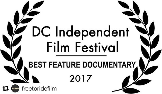 Hats off to the @freetoridefilm crew for receiving this well deserved nod for best feature documentary from the @dcindiefilmfestival - it was a treat to score this thoughtful and powerful film. Congrats! 🍾 #freetoride #dcindiefilmfest #filmscore