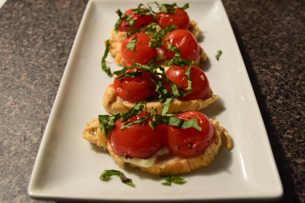 Same Yummy Caprese Toasts from a different yummy view!