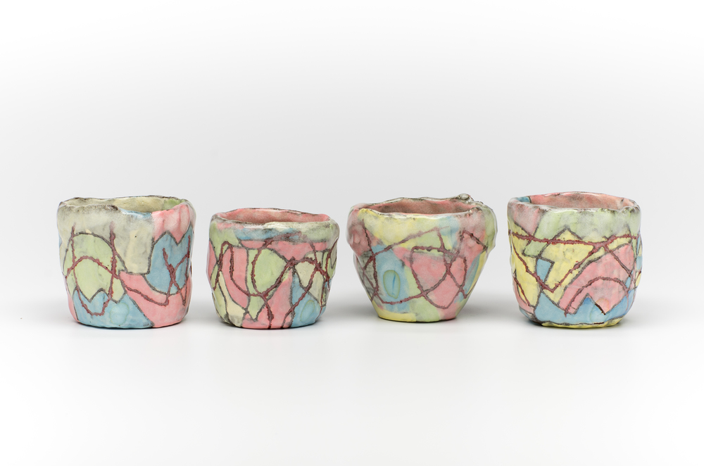 set of (4) rocks glasses
