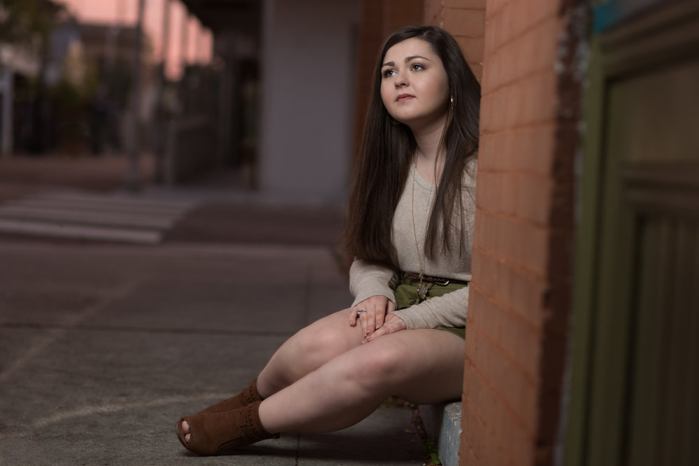 Franklinton High School Demons Senior Portrait Photography Downtown Covington, Louisiana.