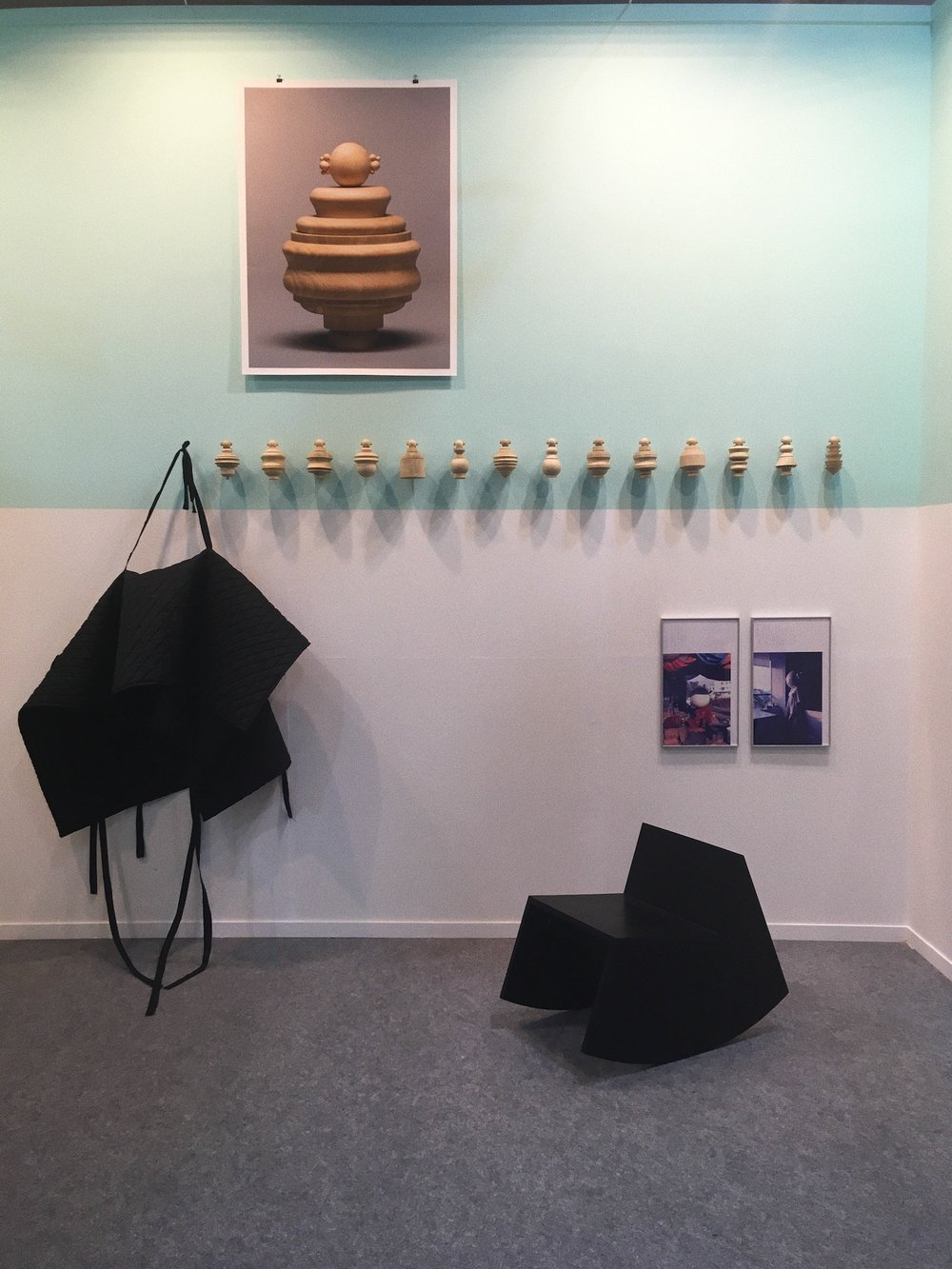 Installation View of  Rehearsing in Acts  (2018) by Princess Pea at India Art Fair 2018