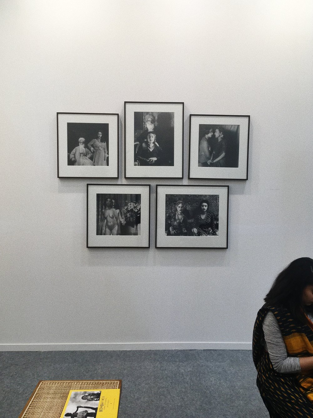 Installation view of  Re-take of Amrita  (2001) by Vivan Sundaram at Photoink booth, India Art Fair 2018