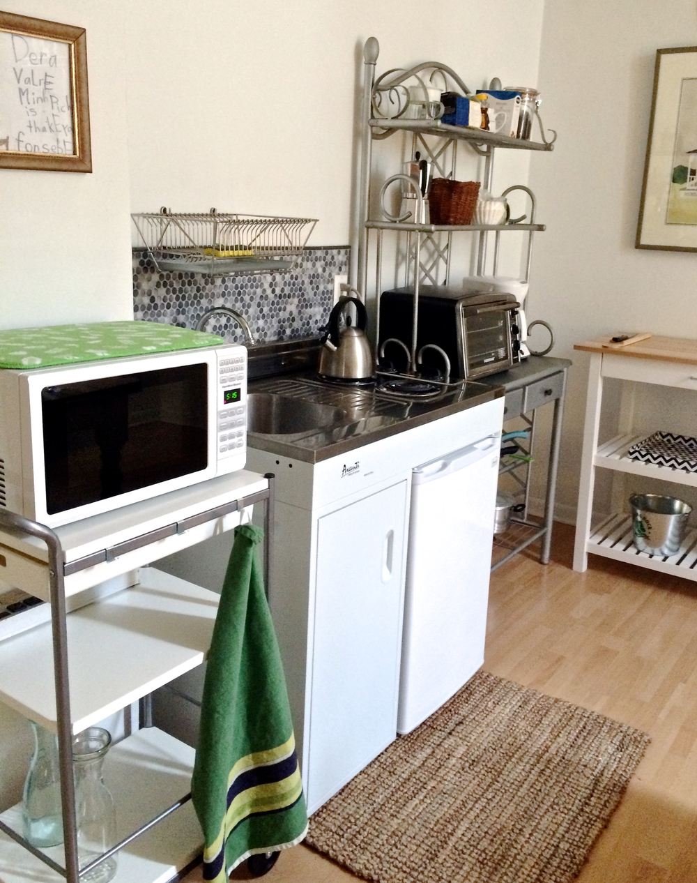 a simple kitchenette