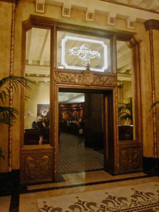THE SAZERAC BAR ENTRANCE