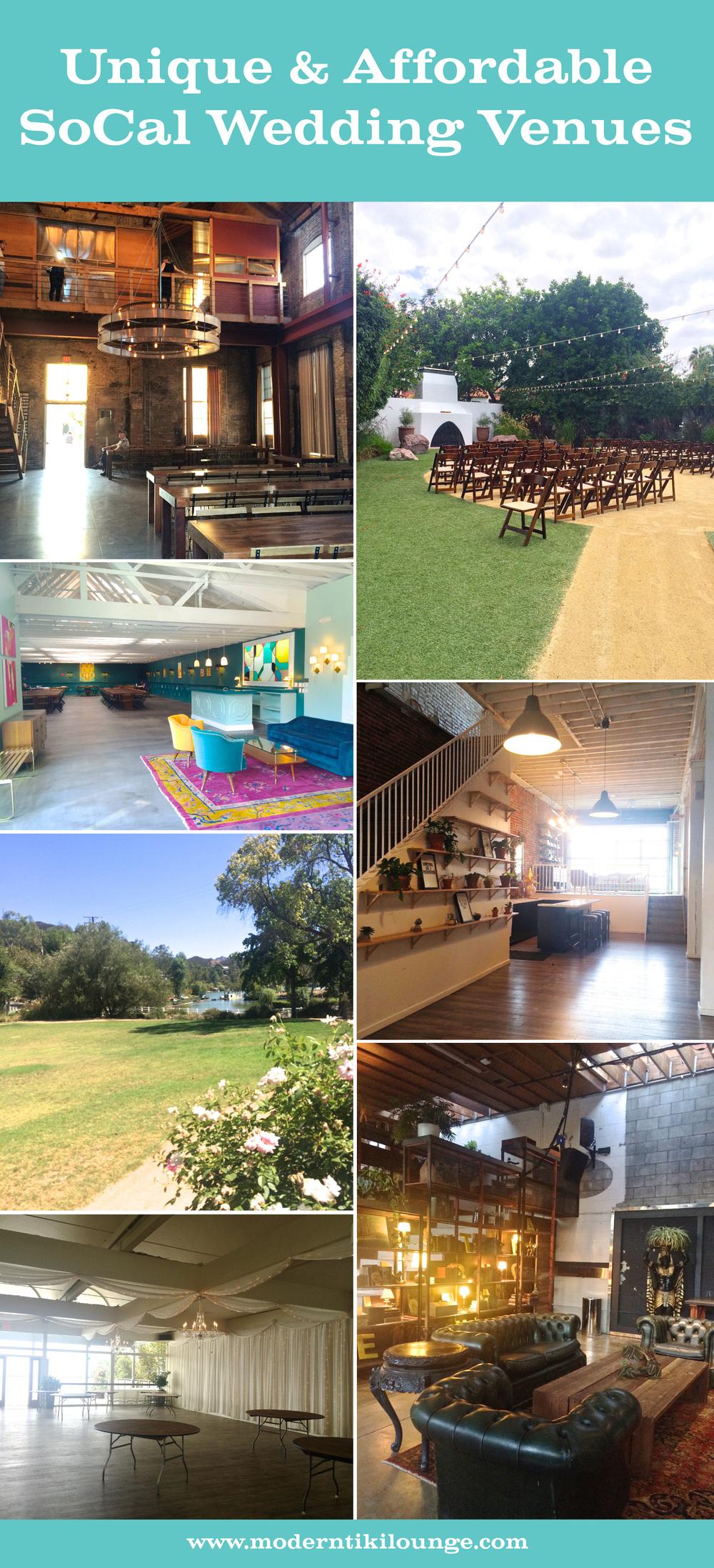 Unique Affordable Socal Wedding Venues