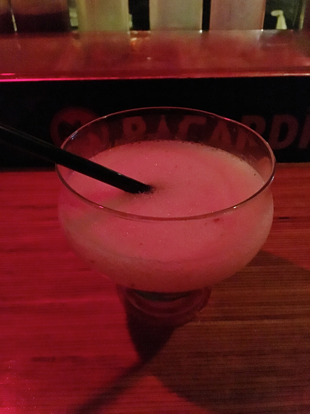 "lychee nut daiquiri  ""not for me. tastes kind of like foot. i really don't like lychee. pulpy ughhh."""