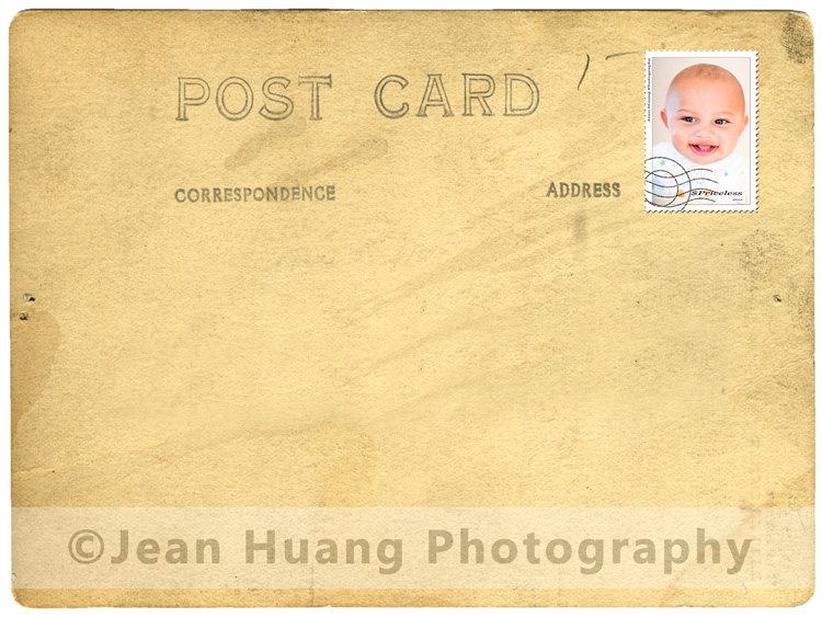 Postcard Stamped with Children's Portrait - ©Jean Huang Photography