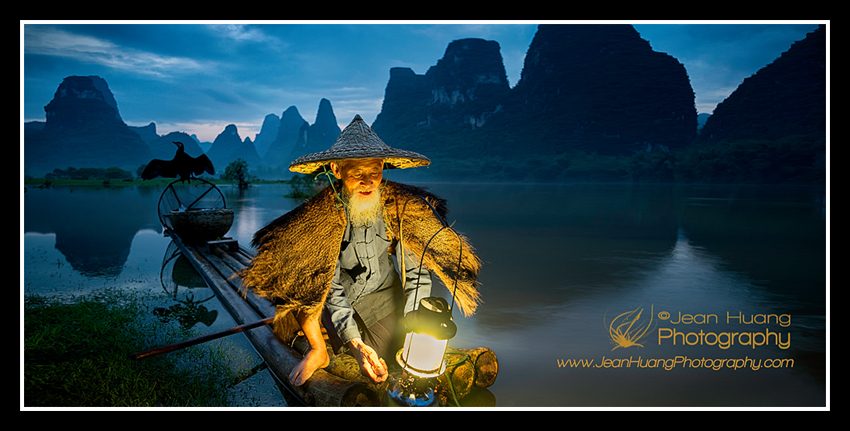 Fisherman-with-Cormorant-in-Xinggping-China-Copyright-Jean-Huang-Photography