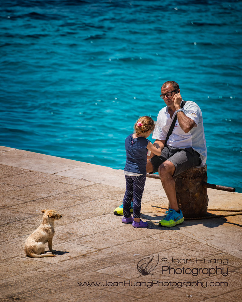 Father-Daughter-Dog-Trio-Levanzo-Sicily-Italy-Copyright-Jean-Huang-Photography