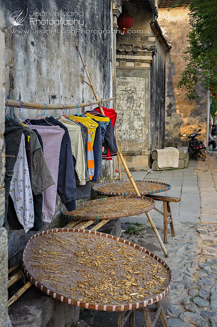 Drying-Clothing-and-Vegetables-in-the-Open-Air-Hongcun-Anhui-China-Copyright-Jean-Huang-PHotography