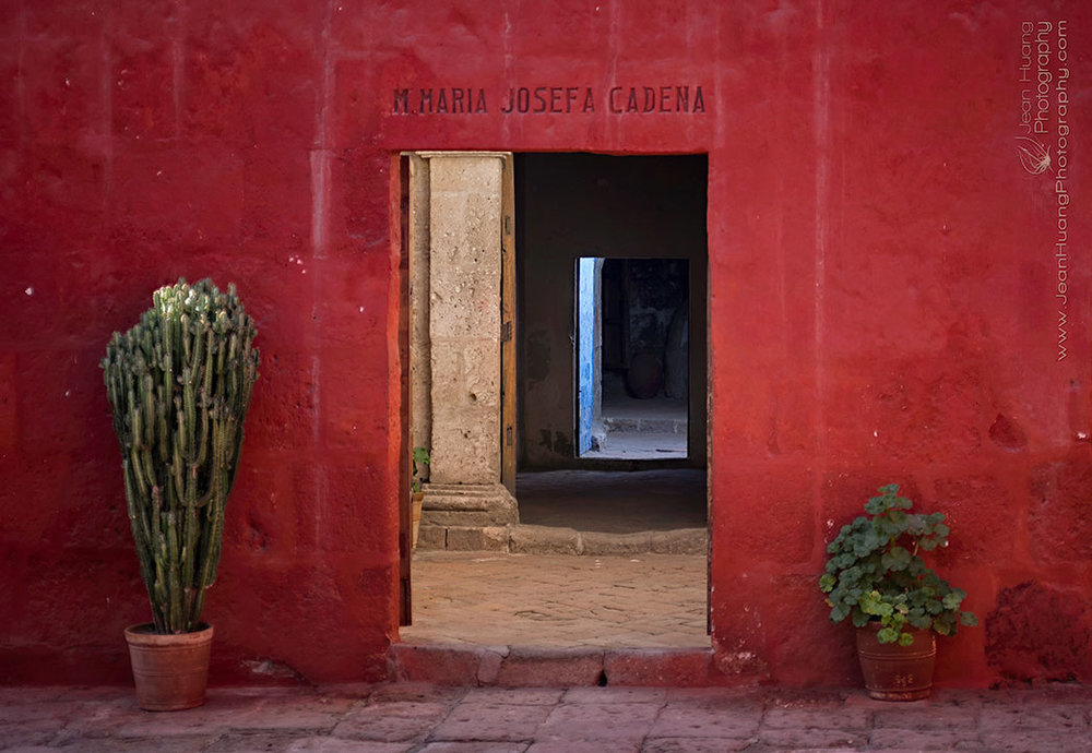 Entry-to-a-Nun's-Room-Santa-Catalina-Monastery-Arequipa-Peru-Copyright-Jean-Huang-Photography