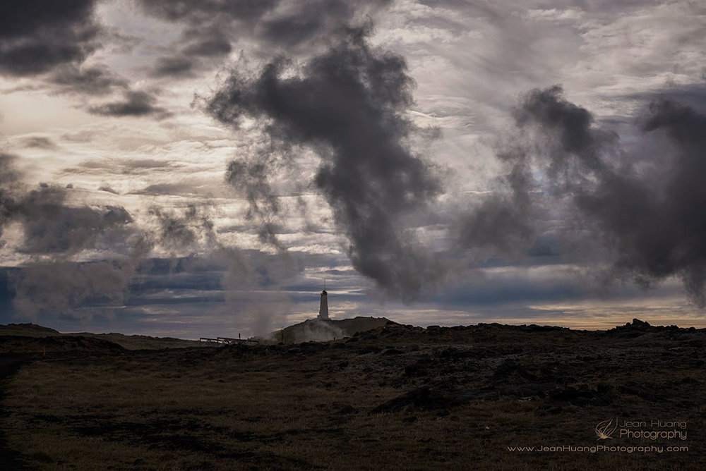 Lighthouse-Engulfed-by-Fume-Gunnuhver-Geothermal-Area-Iceland-Copyright-Jean-Huang-Photography