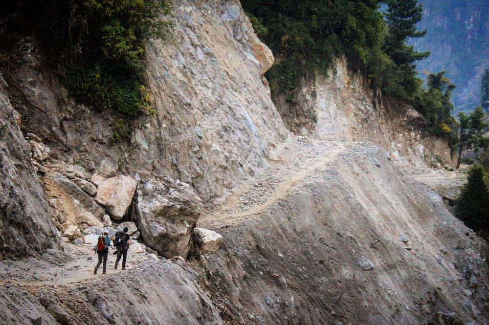 13 days into the mountain loop and now we have to turn around.— at Manaslu Circuit Trek.