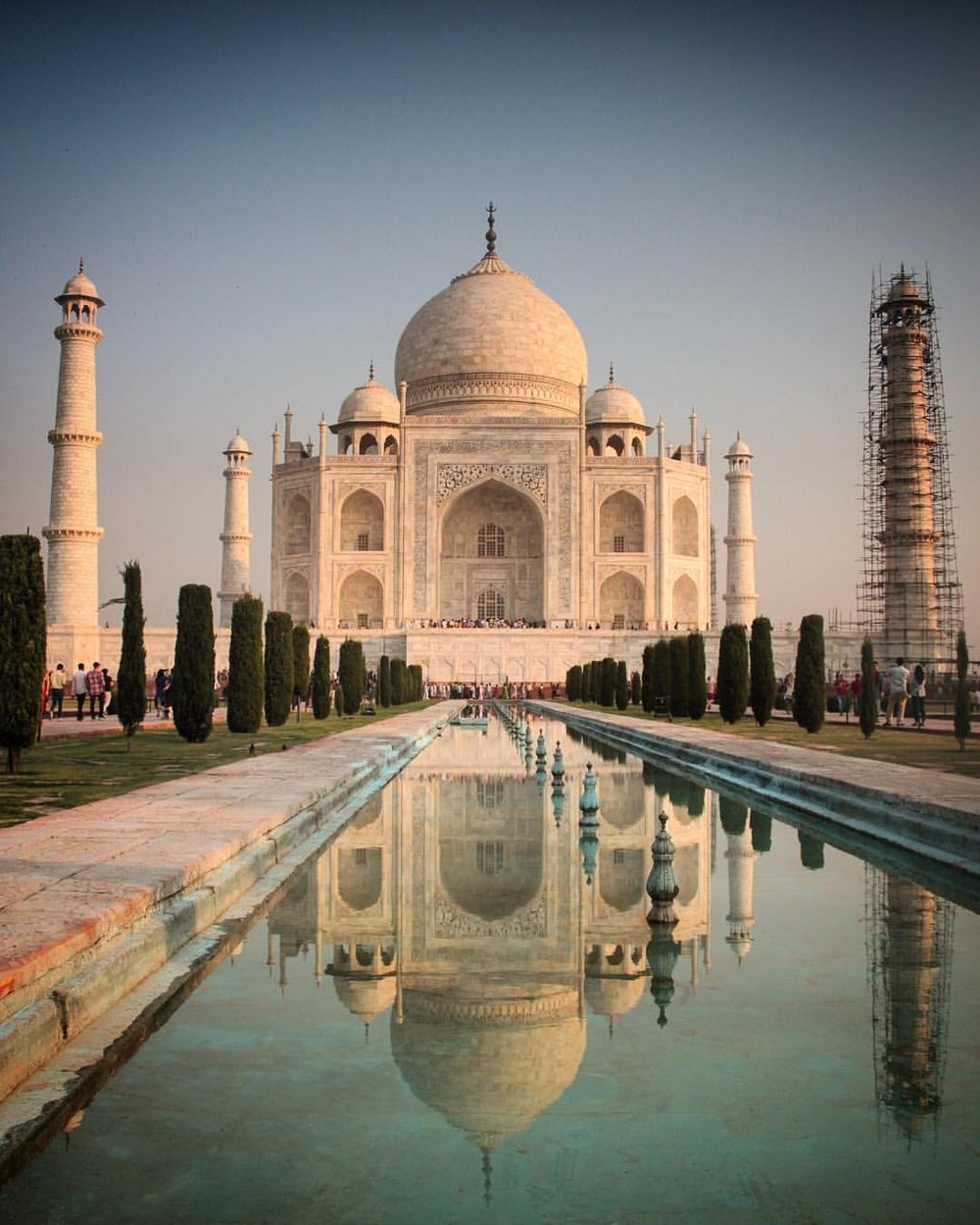 I only stepped a little bit in the reflecting pool for this shot. Taj photo salvo done :)