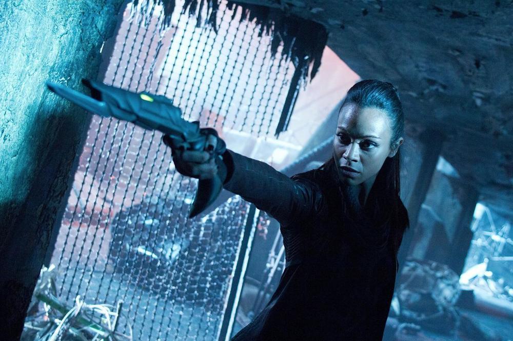 Zoe Saldana as Uhura in Star Trek: Into Darkness
