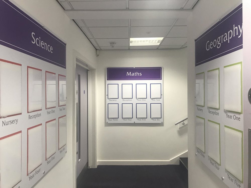 Foamex displays with document holders