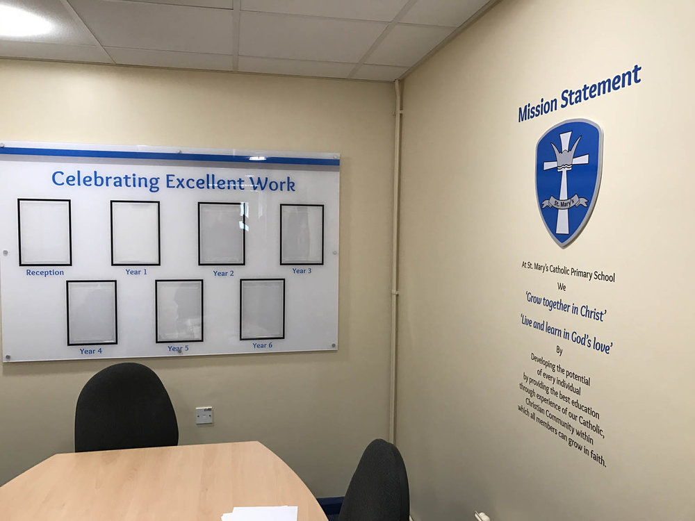 Acrylic displays with document holders