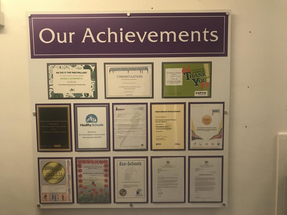 Photo: Example showing awards inside document holders