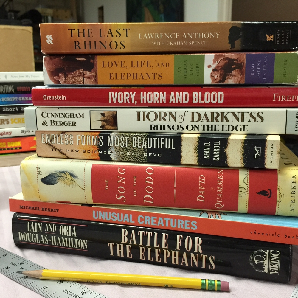 Books on Rhinos and Elephants.jpg