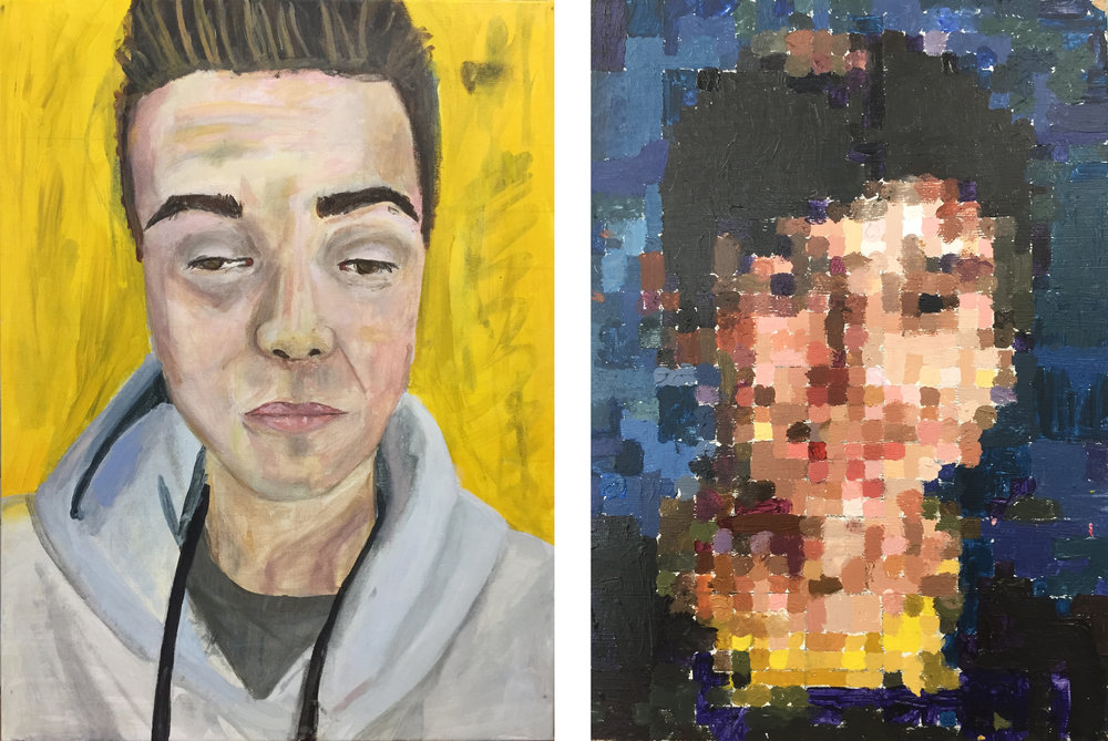Left:   Cole   by Mackenzie Lally     Right:   Alec   by Gianna DeNapoli