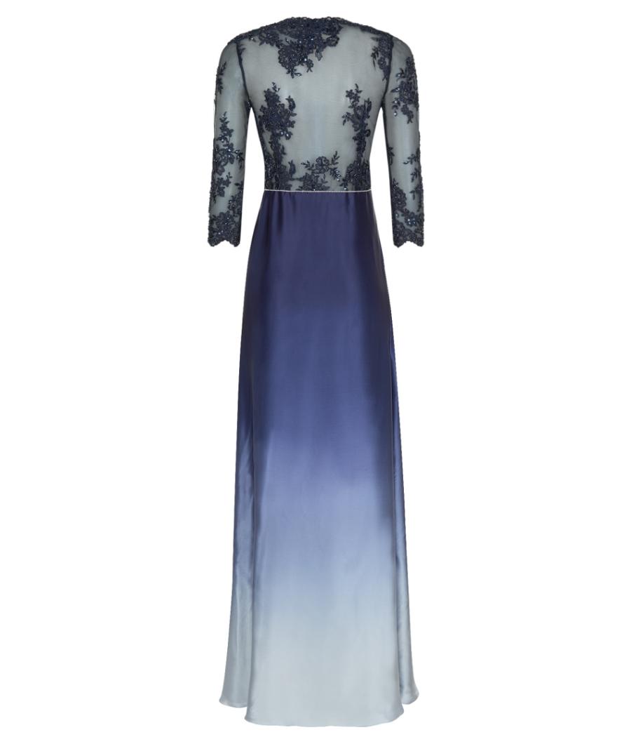 Lace silk summer gala dress — info@michaelafrankova.com
