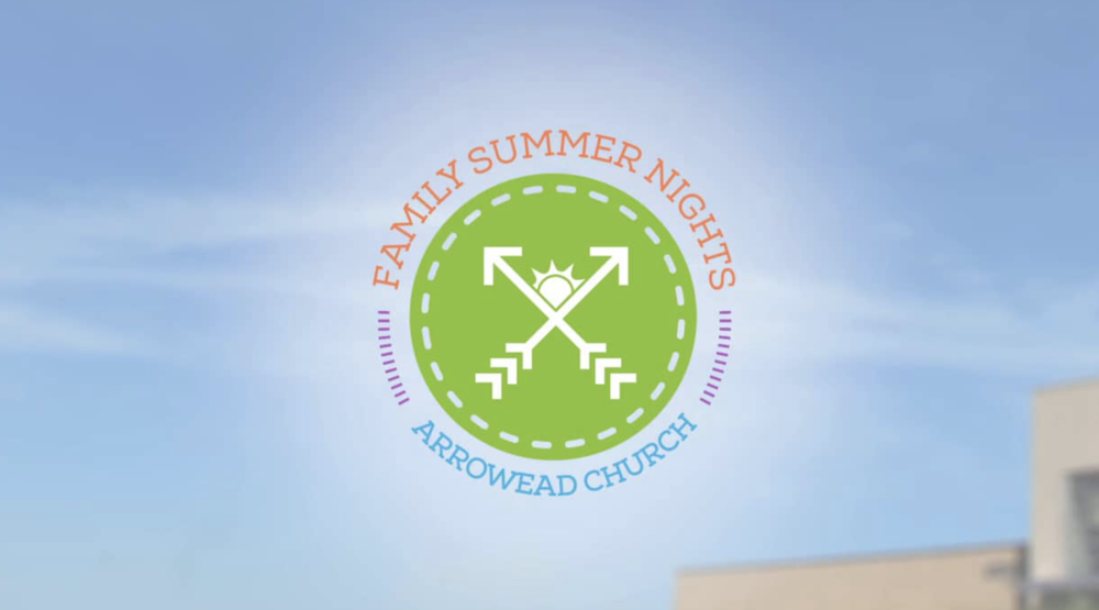 Kids' Event Brand - Arrowhead Church   As the church sought to create an original event alternative to traditional VBS, Jared created a brand targeted at kids. The design is meant to give the impression of a summer camp, but something generic enough that it could be used over many years.