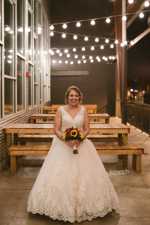 bride at urban chestnut