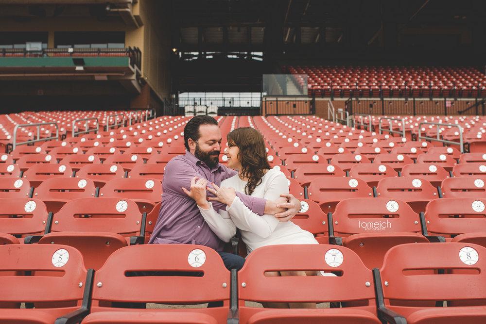 engagement at busch stadium