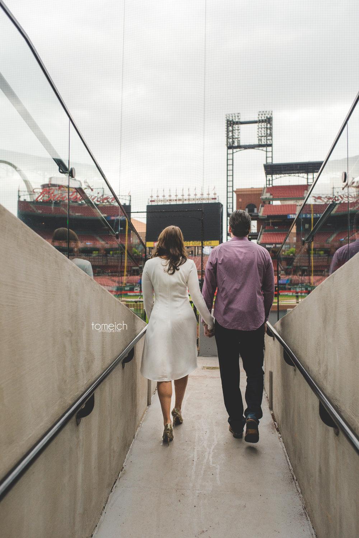 engagement couple baseball