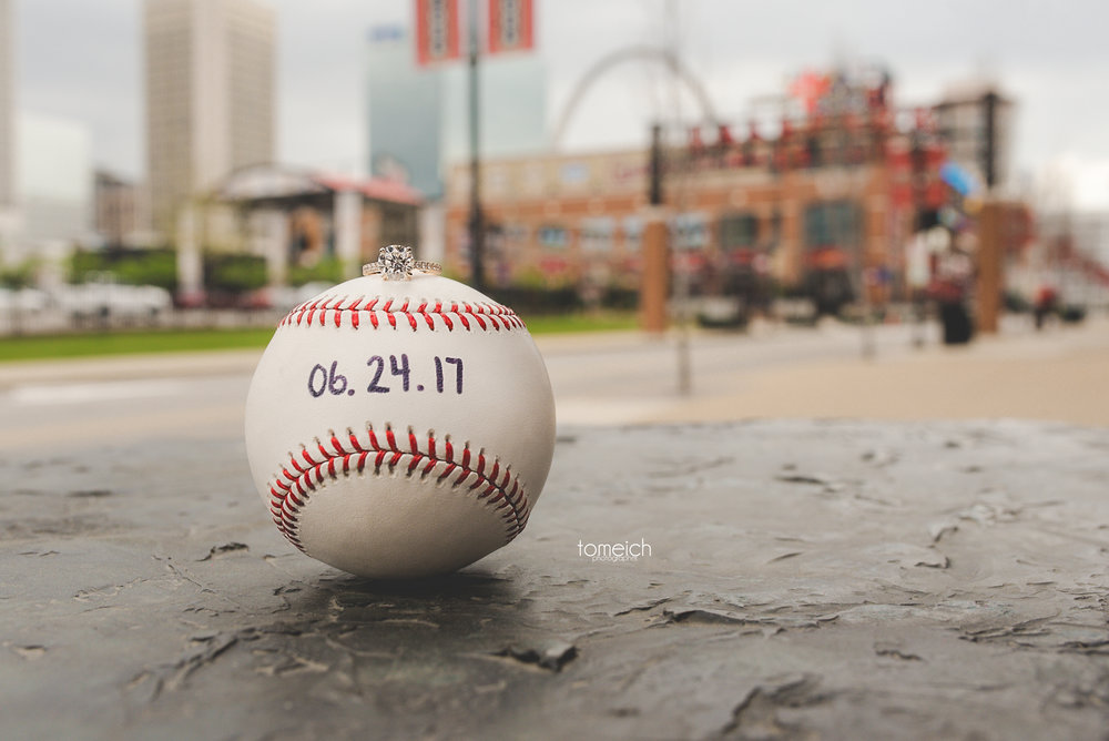 baseball engagement ring shot