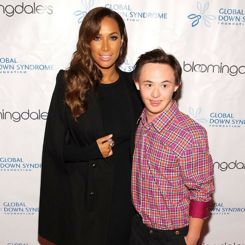 Brandon and Leona Lewis at the Be Beautiful, Be Yourself Gala. Read more here.