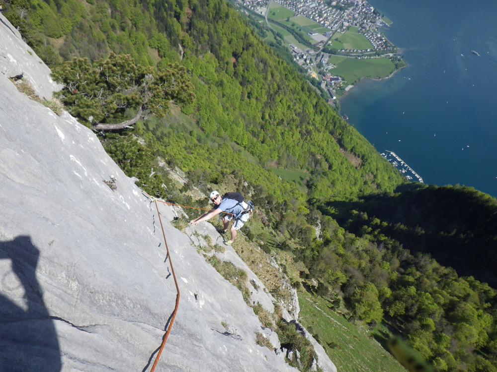 May: Multi pitch climbing in Swizerland
