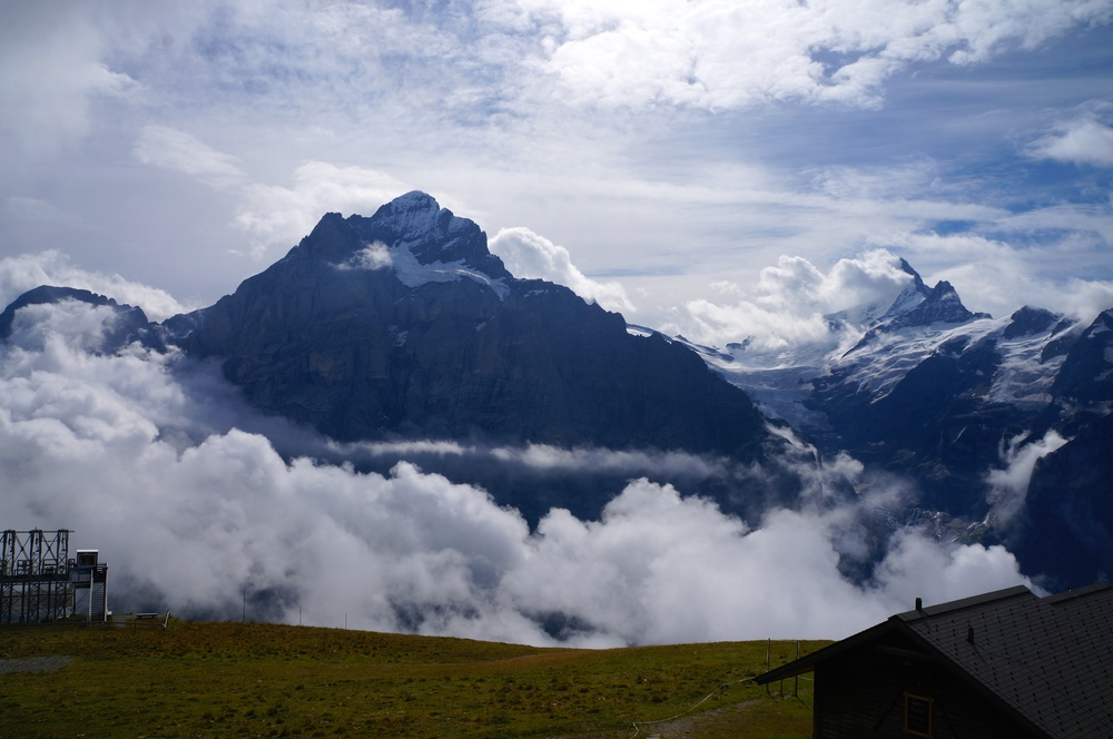 August: Hanging out in Grindelwald with crazy weather rolling in the alps.