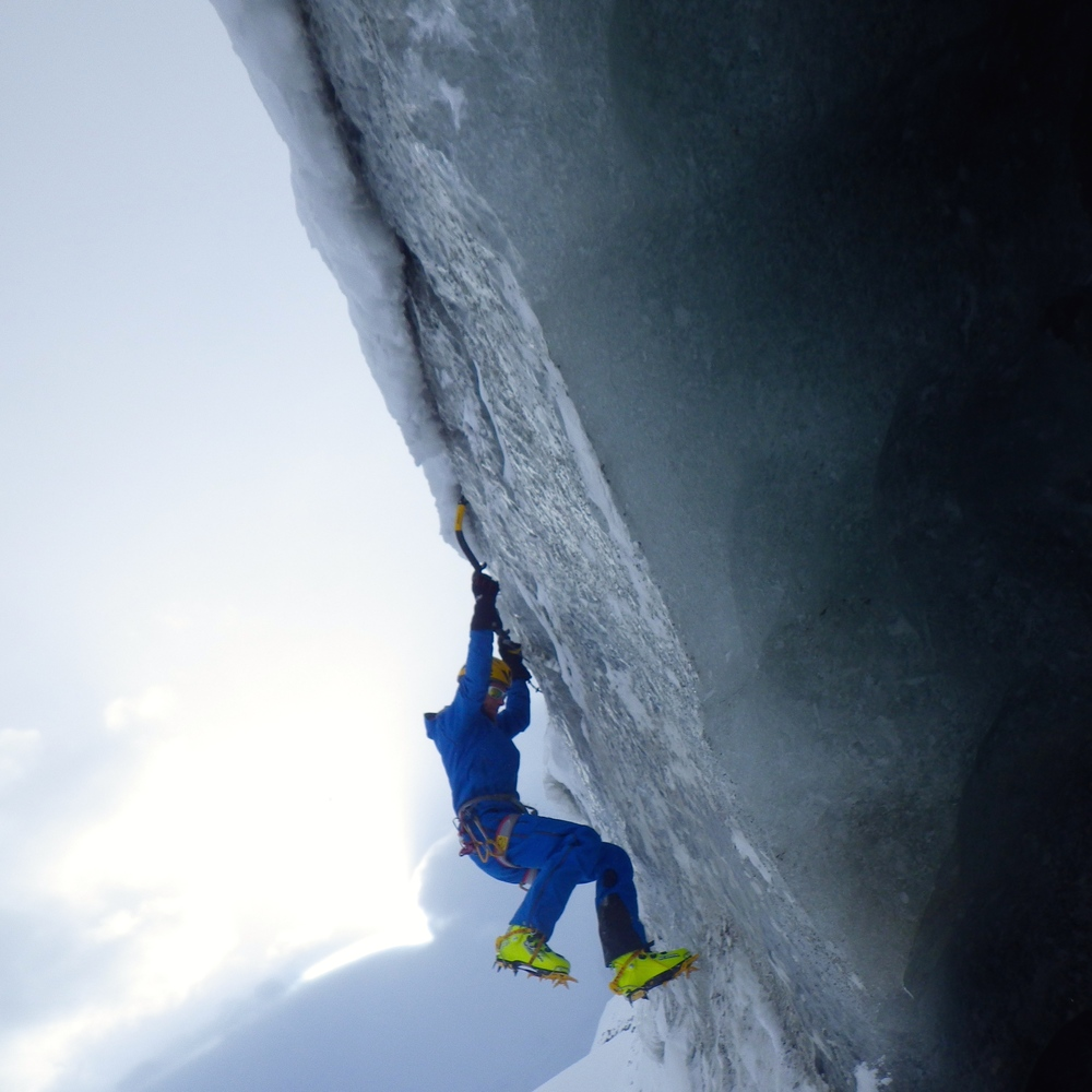 December: Ice climbing adventure on the  Morterasch glacier