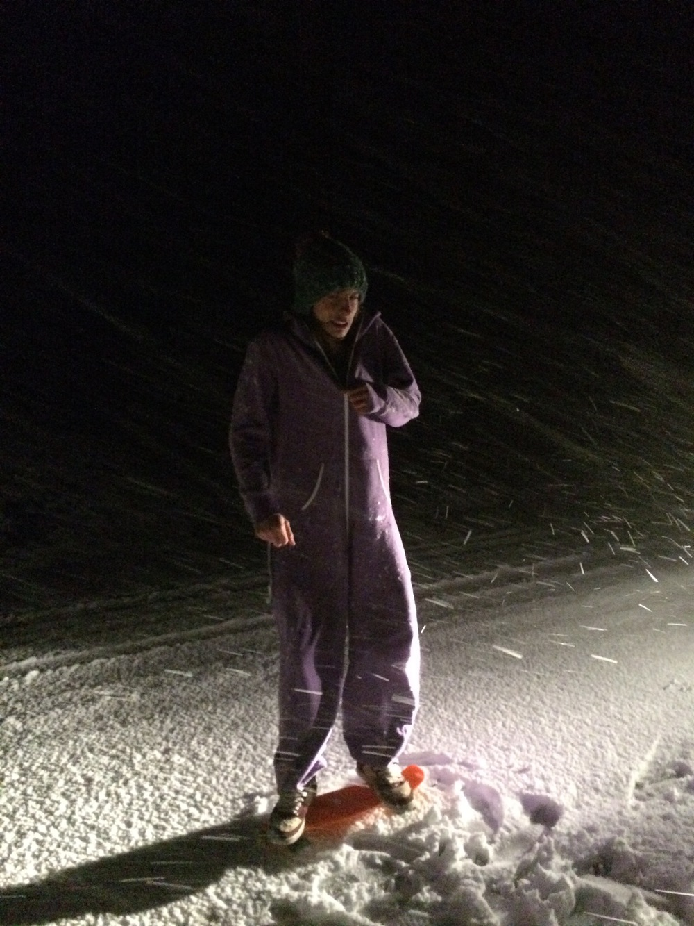 Midnight skate on the hunt for snow in the hills Photo: Enfys