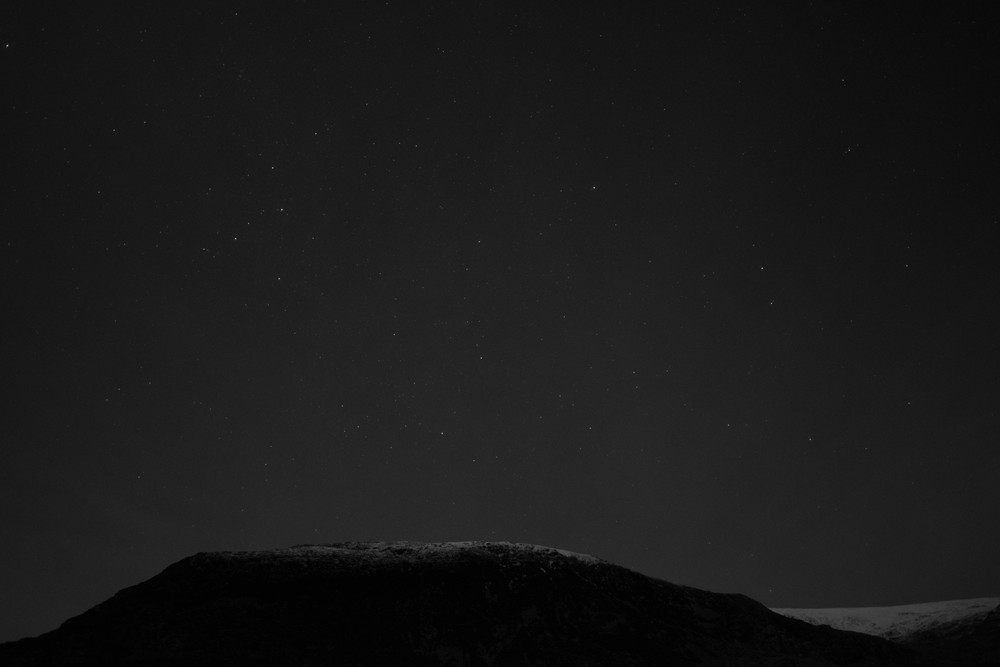 Random midnight adventure up in Ogwen, in searching for the stars.