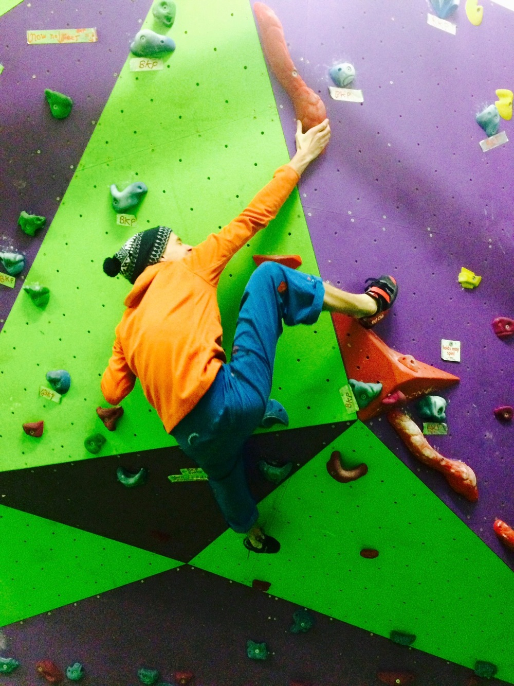 Classic evening training session at the SDC wall. Photo: Ian M