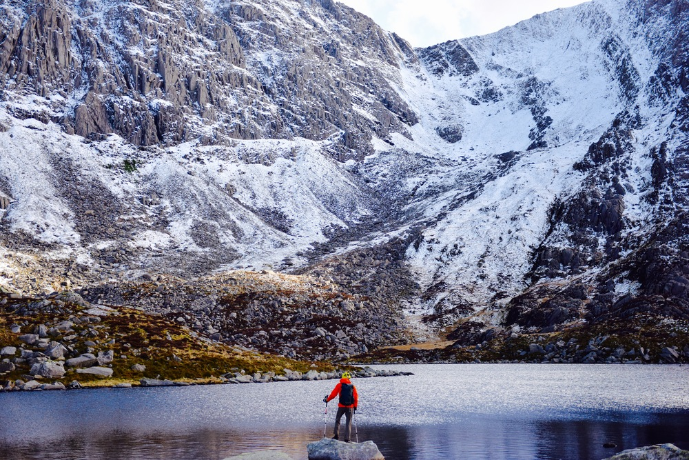taking in the last bit of snow up in Ogwen North Wales (photo: Dan E)