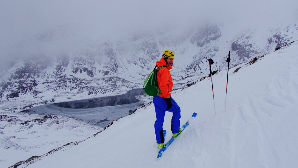 January, winter mountaineering, ice climbing and skimo training all throughout the Welsh hills.