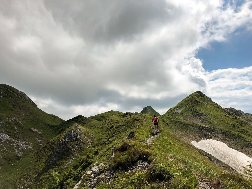 Running along the Arvigrat in central Switzerland (Photo: M.Kelly)