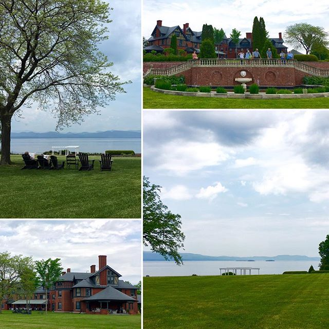 Beautiful Shelburne Farms on Lake Champlain