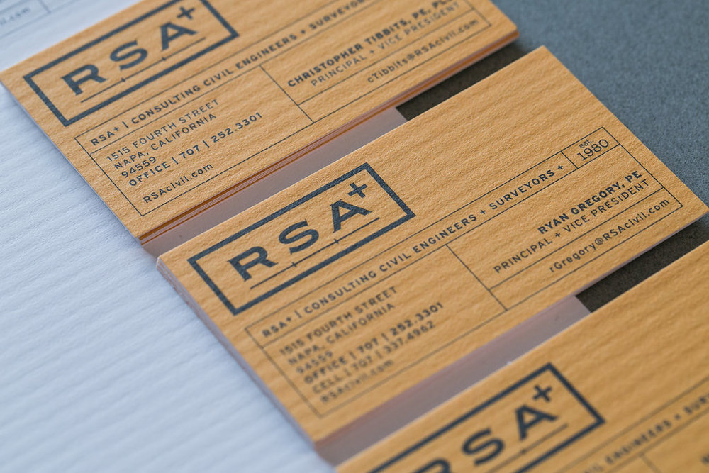 RSA+ business card design