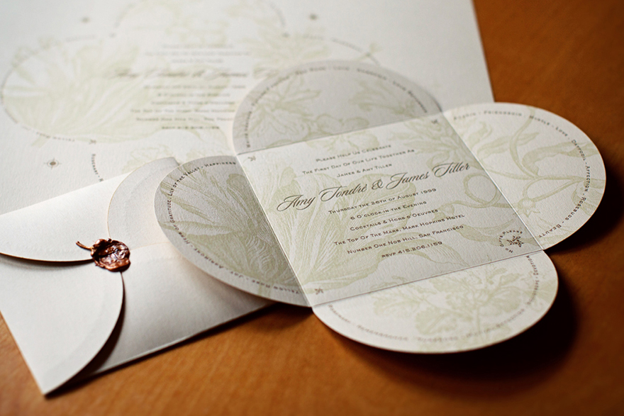 Letterpress Wedding Invitation Design