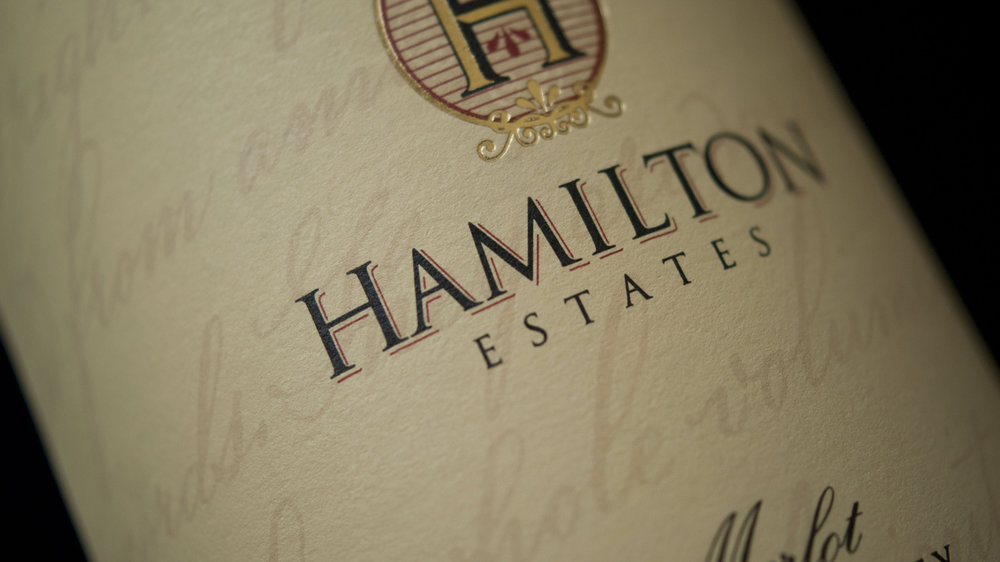 Hamilton Estates Wine Label Design