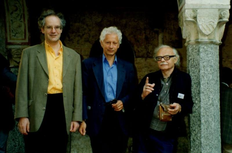 Michel Chion Robert Cahen Gianni Toti au Festival Vidéo de Locarno 1998