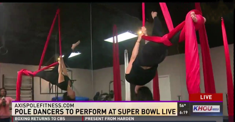 Click on the image above to watch KHOU interview Axis about Super Bowl Live.