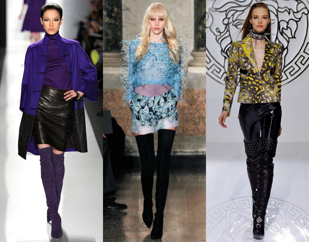 1. Ralph Rucci Autumn-Winter 2013/2014. 2. Emilio Pucci Fall 2013. 3. Versace Fall 2013.