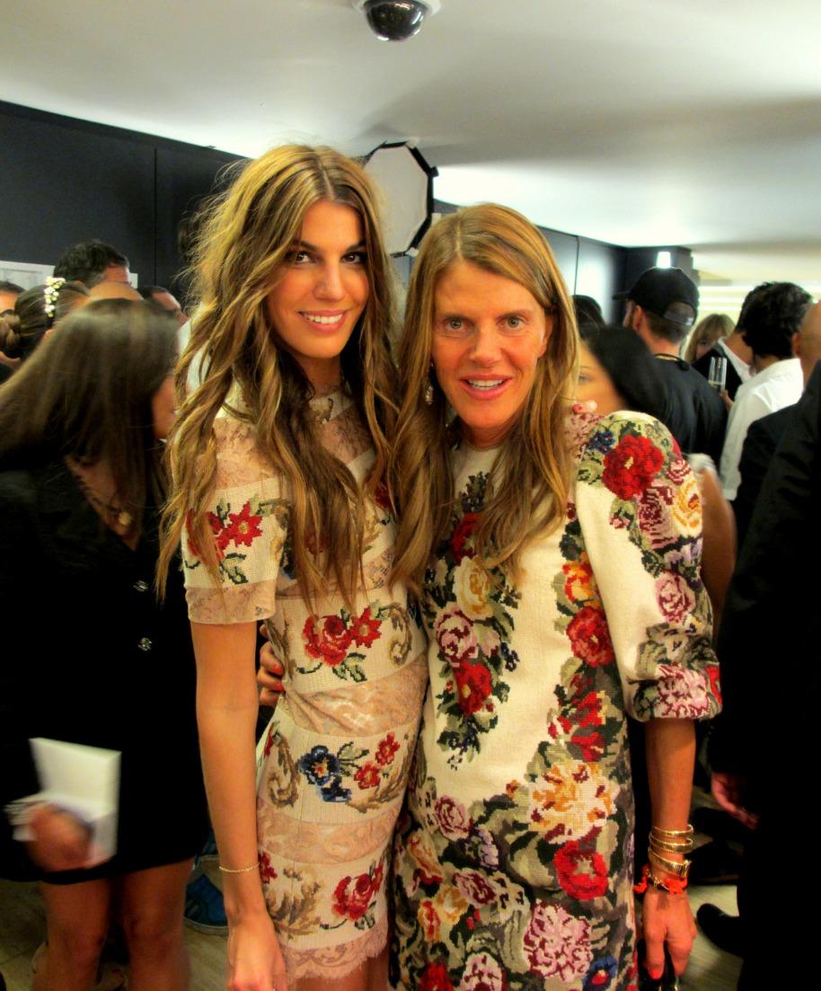 Anna Dello Russo with Bianca Brandolinni