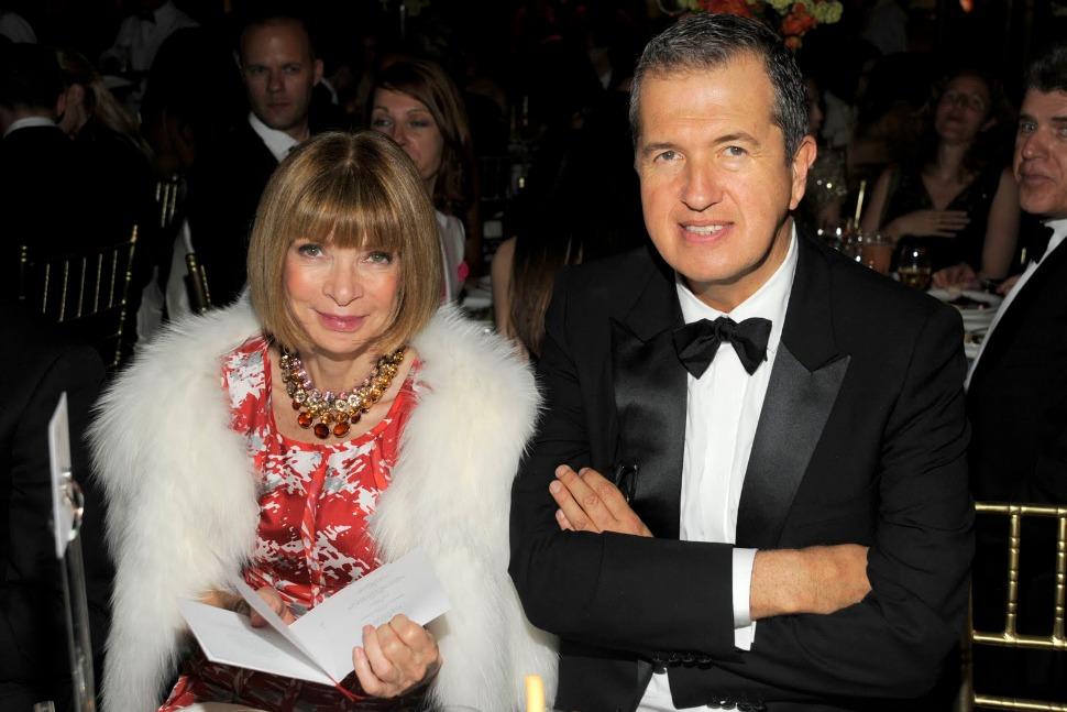 Anna Wintour with Mario Testino