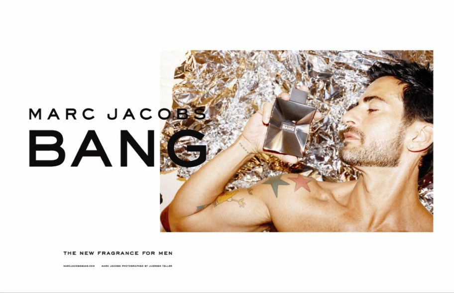 Anuncio publicitario de la fragancia del diseñador, Bang by Marc Jacobs./  Commercial   of the   designer   fragrance  , Bang by Marc Jacobs.